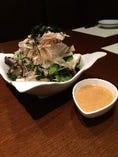 自家製豆腐と長芋レタスサラダ とろろドレッシング