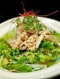シャキシャキ野菜の豚しゃぶサラダ