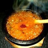牛すじと和牛ホルモンのミニ赤鍋