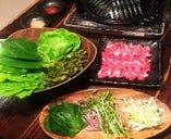 NEW!生ラムをたっぷりの新鮮野菜に包んで 「ラムギョプサル」