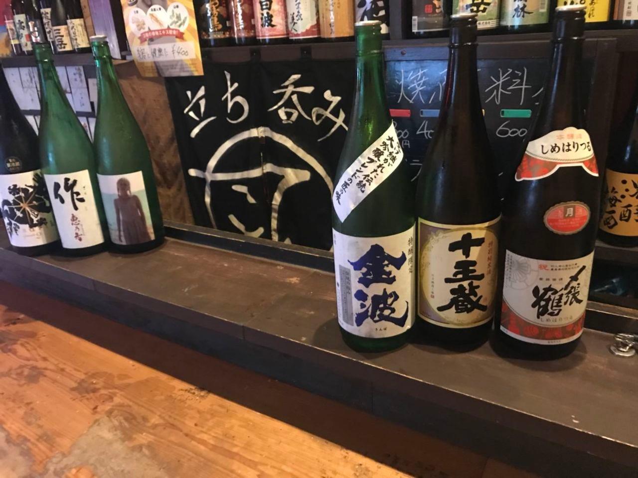 拘りの日本酒メニュー