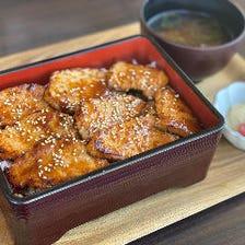 味噌焼き豚重定食