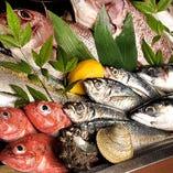 ◇ 鮮度と味は譲れない。自慢の「新鮮魚貝」 ◇