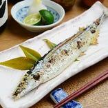 秋刀魚の天然塩焼き