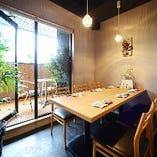 【「プライベートテラス付」テーブル個室 4名、4名、6名 計3席(最大14名様】