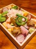 ズワイ蟹たっぷりの北海ちらし寿司