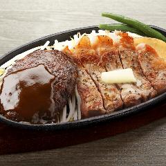 1ポンドのステーキハンバーグ タケル 東三国店