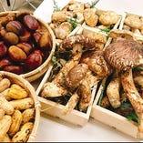 【秋の風物詩】松茸や栗など季節の食材♪【長野県】