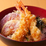 海老と三浦野菜の天丼