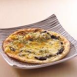 しらすと生海苔のピザ