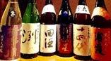 地元のお酒から、 話題の銘柄までメニューは常時20種類以上。