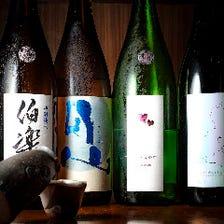伯楽星1合750円など季節の日本酒!