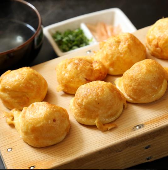フワフワ食感がヤミツキ名物明石焼き