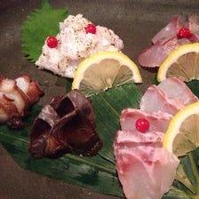 新鮮鮮魚のお造り盛り!