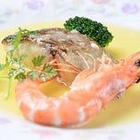 新鮮魚介と鎌倉野菜の料理