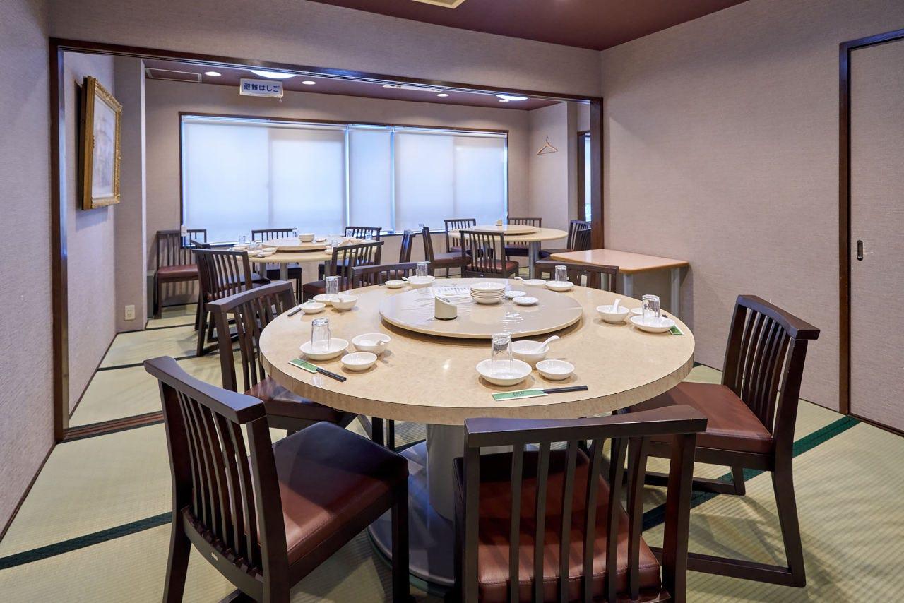 2階椅子席4室、最大50名様 の宴会もご利用いただけます。