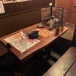 少人数の宴会にも♪ゆったりテーブルのお席