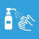 (2)入店時の手指の消毒
