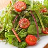 無農薬リーフのサラダ バルサミコドレッシング