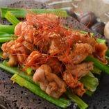 ハラミと九条ねぎの味噌焼き