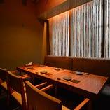 木の温もりが心地よい和のデザイン半個室:6名様まで