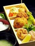 揚げ鶏御膳(御飯・サラダ・お椀付)