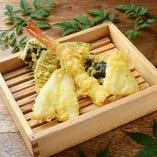 天ぷら盛り合わせ 五種
