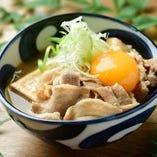 お月見肉豆腐