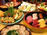 本鮪入りの刺身舟盛りが目玉! ご宴会コースもお得です!