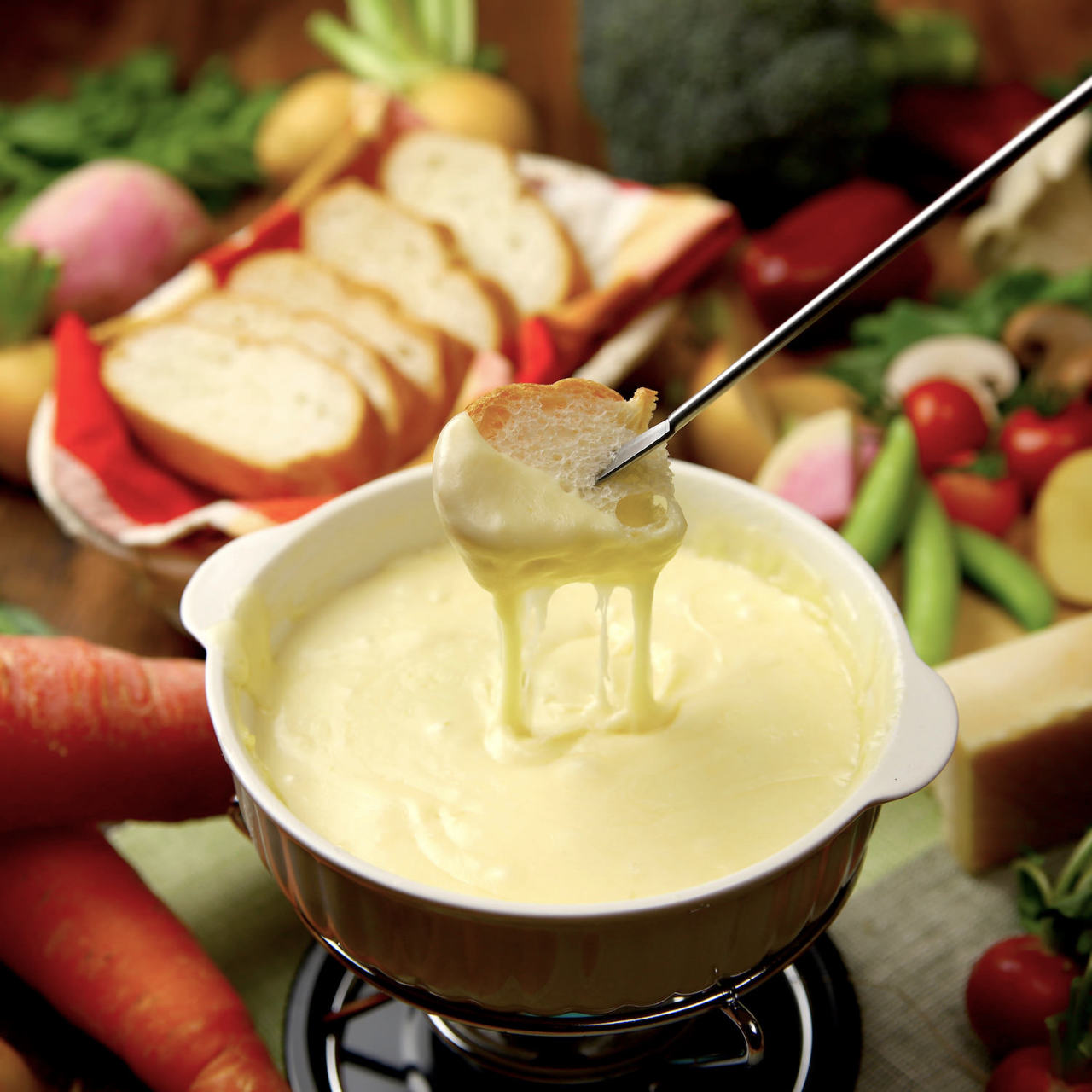 完全個室で楽しむチーズフォンデュ