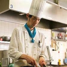 熟練シェフの本格料理をご堪能あれ!