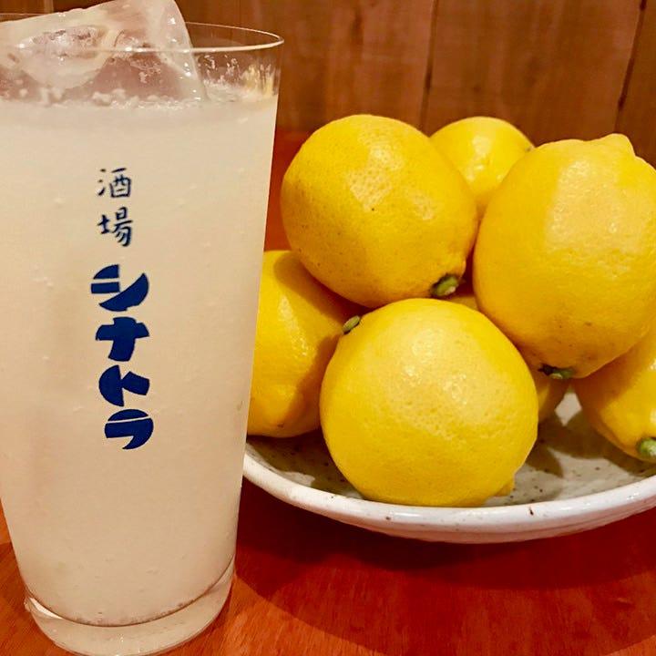 他とは違う本気のレモンサワー!!