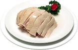 蒸し鶏の特製葱ソース
