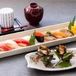 「さざえつぼ焼きとにぎり寿司」