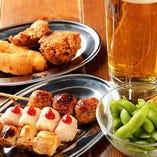 『錦爽鶏』の焼き鳥や串カツが自慢の居酒屋WAO(ワオ)