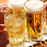 自慢の焼き鳥や串カツと一緒に、お好みのお酒をご満喫ください◎