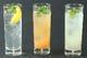 ノンアルコールのカクテル3種、レモン・グレープフルーツ・ゆず