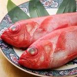 旬の海鮮料理  キンキ 金目鯛 鯛
