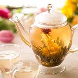 花茶(工芸茶)もお愉しみ頂けます♪
