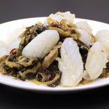 イカと高菜の炒め