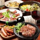 本格肉バル料理と相性抜群のワインや各種ドリンクも多彩!