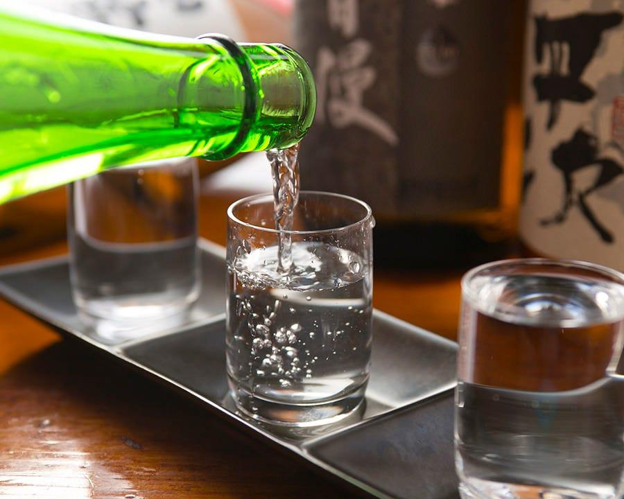 厳選50種『日本酒飲み比べ』大好評!