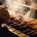 炭火で焼き上げる桜姫鶏もも