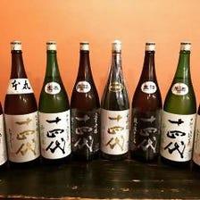 希少な銘柄も!全国の日本酒を堪能