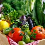 契約農家さんから厳選仕入れ!こだわりのお野菜を使用しています。