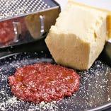 ヴェローナ風赤ワインと濃厚チーズのリゾット
