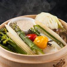 道産野菜の蒸しサラダ