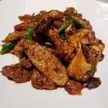 定番 野菜とラムのクミン炒め