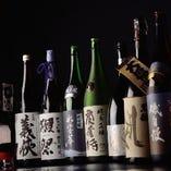 宮城の地酒は約10種、全国から厳選した地酒を多数ご用意あり。