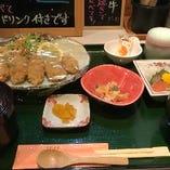 広島産カキフライ定食 季節メニュー